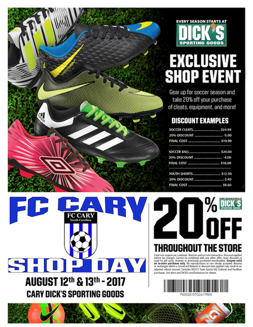 FC Cary DSG Gear Up Event August 12th and 13th, 2017